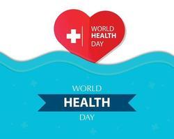 världens hälso dag bakgrund vektor