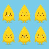 süße Ölfiguren mit verschiedenen Ausdrucksformen vektor