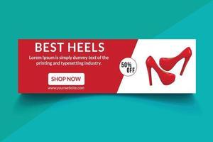 modern social media banner mall. elegant försäljning och rabattkampanj