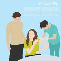 Grafik-Vektor der Impfkarikaturillustration vektor