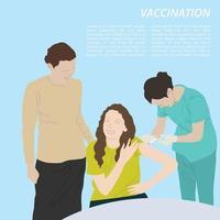 vaccination tecknad illustration grafisk vektor