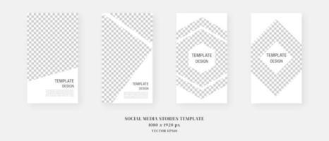 Social Media Vorlage. trendige bearbeitbare Vorlage für Social Media-Geschichten. Modell isoliert. Schablonendesign. Vektorillustration. vektor