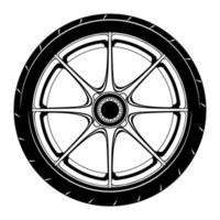 Auto Rad Illustration für die Konzeption vektor