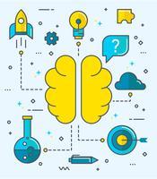 Nette Brainstorming-Vektoren