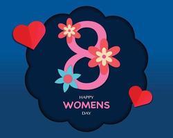 glad kvinnodag i pappersstil