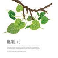 buddhistiskt träd på grafisk illustrationvektor vektor