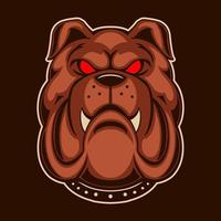Bulldogge Vektor-Illustration Design isoliert auf dunklem Hintergrund vektor