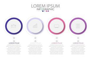infografisk mall i fyra steg, mall för diagram, diagram, presentation och diagram. vektor