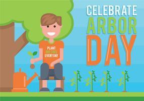 Arbor Day-Vektor-Illustration