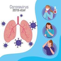 Infografik zur Coronavirus-Präventionskampagne vektor