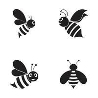 Bienenlogoillustrationsvektorentwurf vektor
