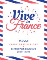 Vive la Frankreich Poster vektor