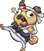 Cartoon Karate Mops vektor