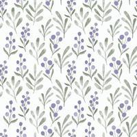 Aquarell lila Blatt Blumen Wildblume nahtloses Muster vektor