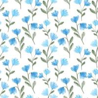 akvarell söt blå vildblom sömlös blommönster