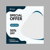 modern marknadsföring fyrkantig webb banner för sociala medier mobil vektor