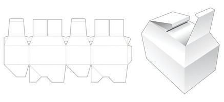 zwei Flips abgeschrägte Verpackung gestanzte Vorlage