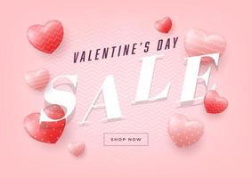 Valentinstag Verkauf Banner Vorlage.