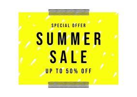 sommar försäljning banner mall. försäljning affisch minimal stil. vektor