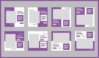 mallar för sociala medier och banners för reklam och reklammedier vektor