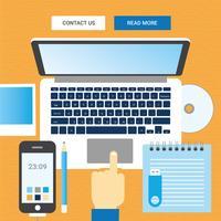 Desktop-Illustration des Vektor-Designers
