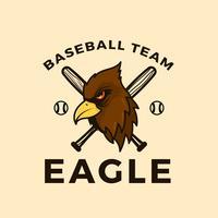 Flache Baseball-Maskottchen-Vektor-Illustration