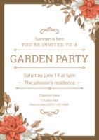 Garten Party Einladung vektor