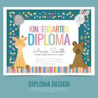 Vektor-Kindergarten-Diplom