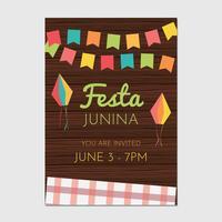 Festa Junina Flygblad vektor