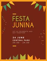 Festa Junina Plakat vektor