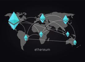 Ethereum Netzwerk Hintergrund vektor
