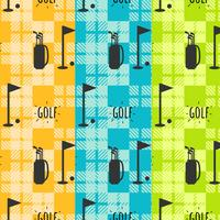 Vintage Golf Mönster Set