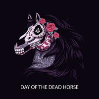 Tag der toten Pferd Illustration vektor