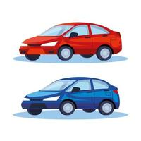 Limousinen Autos Fahrzeuge Transportikonen vektor