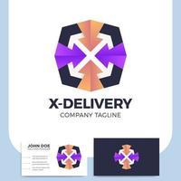 logistisk leveransbrev x ikon och visitkort