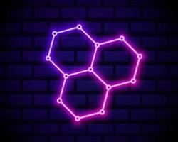 hexa länk neon vektor