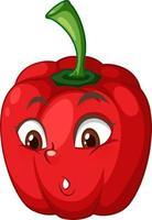 Paprika-Zeichentrickfigur mit Gesichtsausdruck
