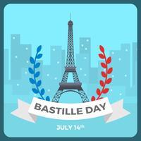 Flacher Bastille-Tagesvektor