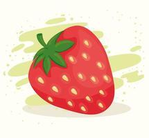 frische und gesunde leckere Erdbeere vektor