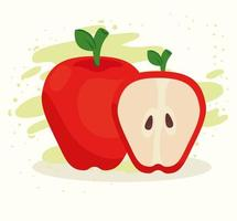 färska och friska äpplen vektor