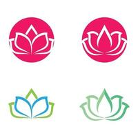 Beauty Lotus Logo Bilder gesetzt vektor