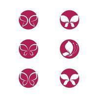 Schönheit Schmetterling Logo Bilder gesetzt