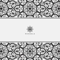 Blumenmandala. Vintage dekorative Elemente. orientalisches Muster, Vektorillustration. vektor