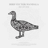 Vogel Mandala. Vintage dekorative Elemente. orientalisches Muster, Vektorillustration. vektor
