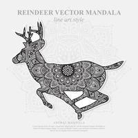 Hirschmandala. Vintage dekorative Elemente. orientalisches Muster, Vektorillustration. vektor