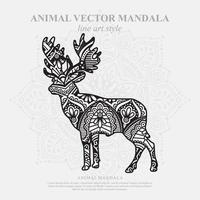 Elchmandala. Vintage dekorative Elemente. orientalisches Muster, Vektorillustration. vektor