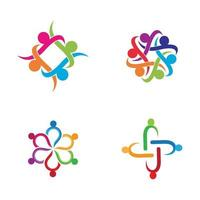 Teamwork-Logo-Bilder vektor