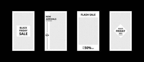 sociala medier mall. trendiga redigerbara mallar för sociala medier. mockup isolerad. mall design. vektor illustration.