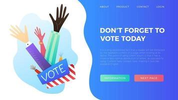 Abstimmung heute Illustration vektor