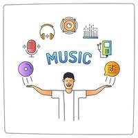 musik ljud illustration vektor